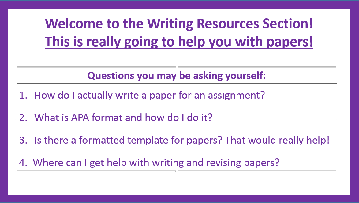 Writing Resources  Student Success Guide  Rasguides At Rasmussen  Writing Resources