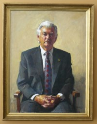 Hon RJL Hawke AC Prime Minister of Australia, oil on canvas, Adelaide 2000.
