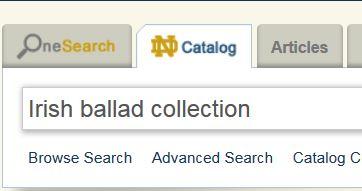 Ballads - Irish Music - Library Guides at University of