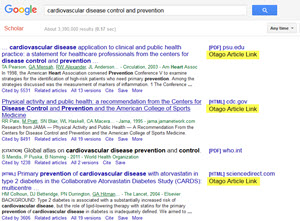 Google Scholar results showing Otago Article Links