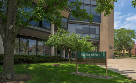 photo of the Reuther Library outside