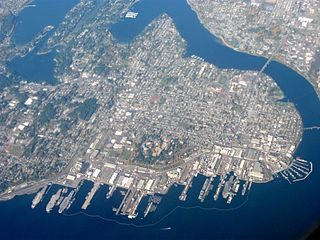 Bremerton, Washington aerial view