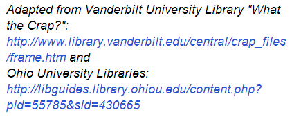 example of broken URL's