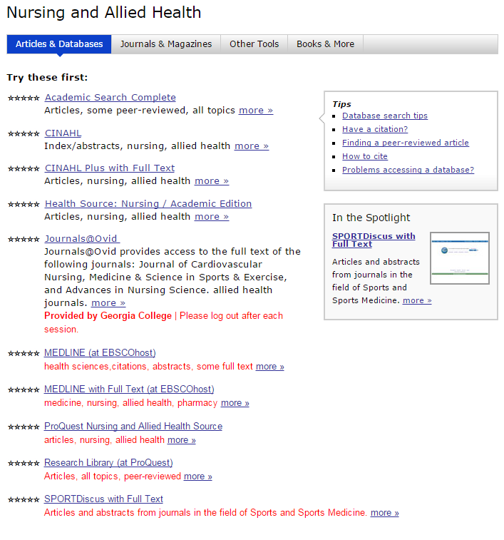 How do I find other databases such as CINAHL? - LibAnswers