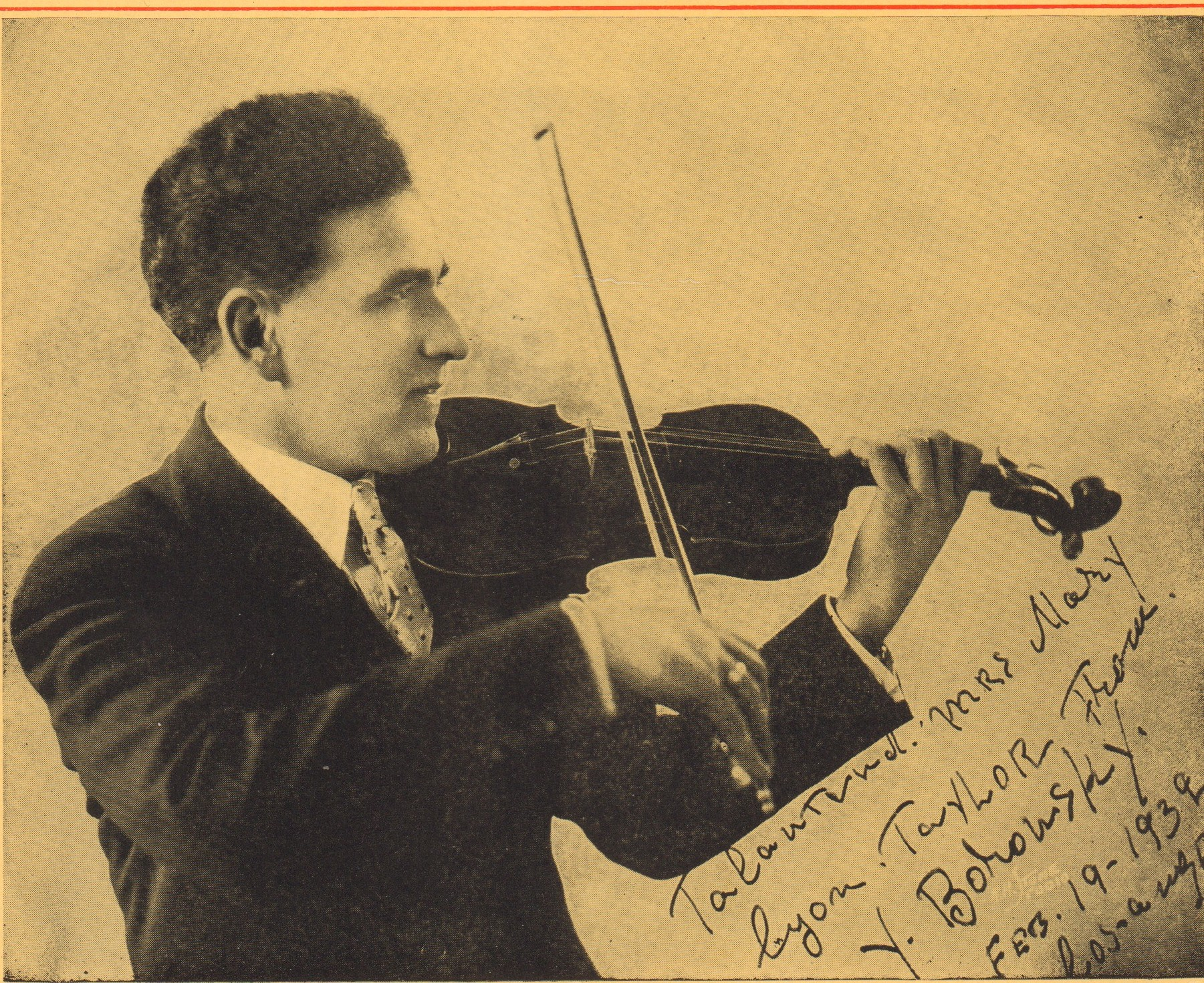 Yascha Borowsky, Conductor, Los Angeles Biltmore Concert Orchesra