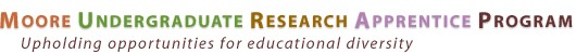 Moore Undergraduate Research Apprentice Program: Upholding opportunities for educational diversity logo