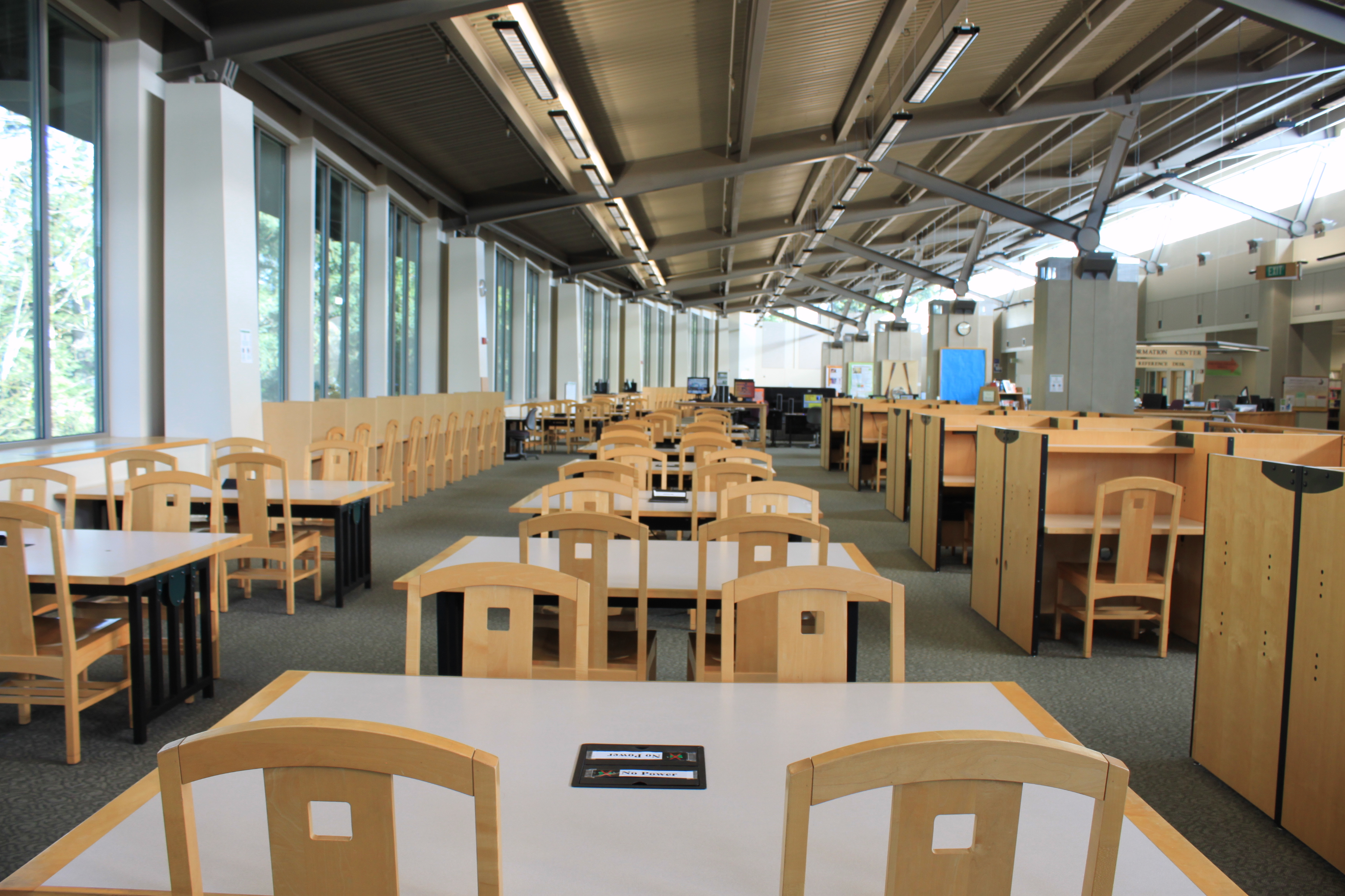 HL second floor - study tables