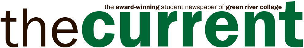 "Image of GRC's student newspaper logo. It reads ""the current"""