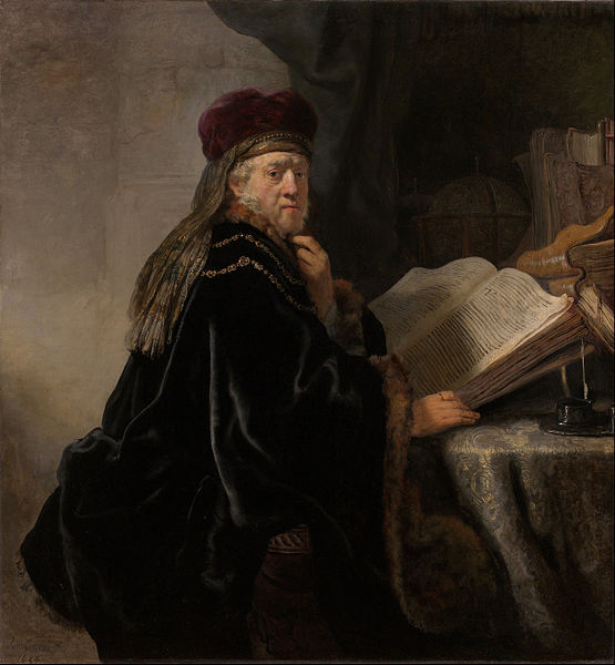 Rembrandt. Scholar at his Study. 1634. The National Gallery in Prague