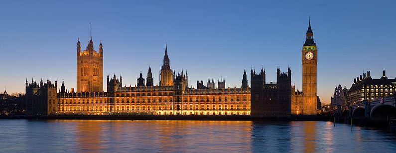 The Palace of Westminster (a/k/a the Houses of Parliament)