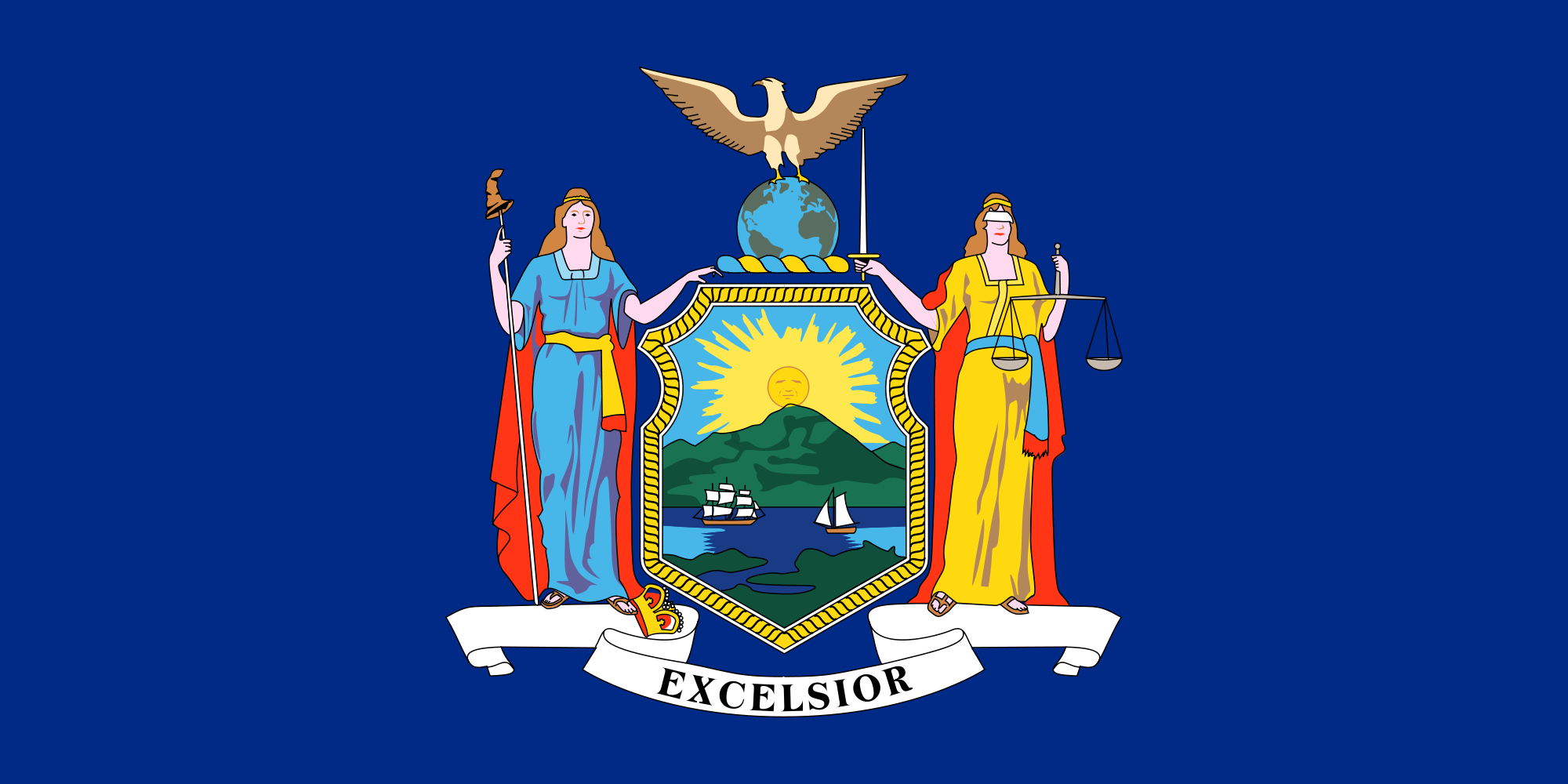 New York flag (linked to NY government website)