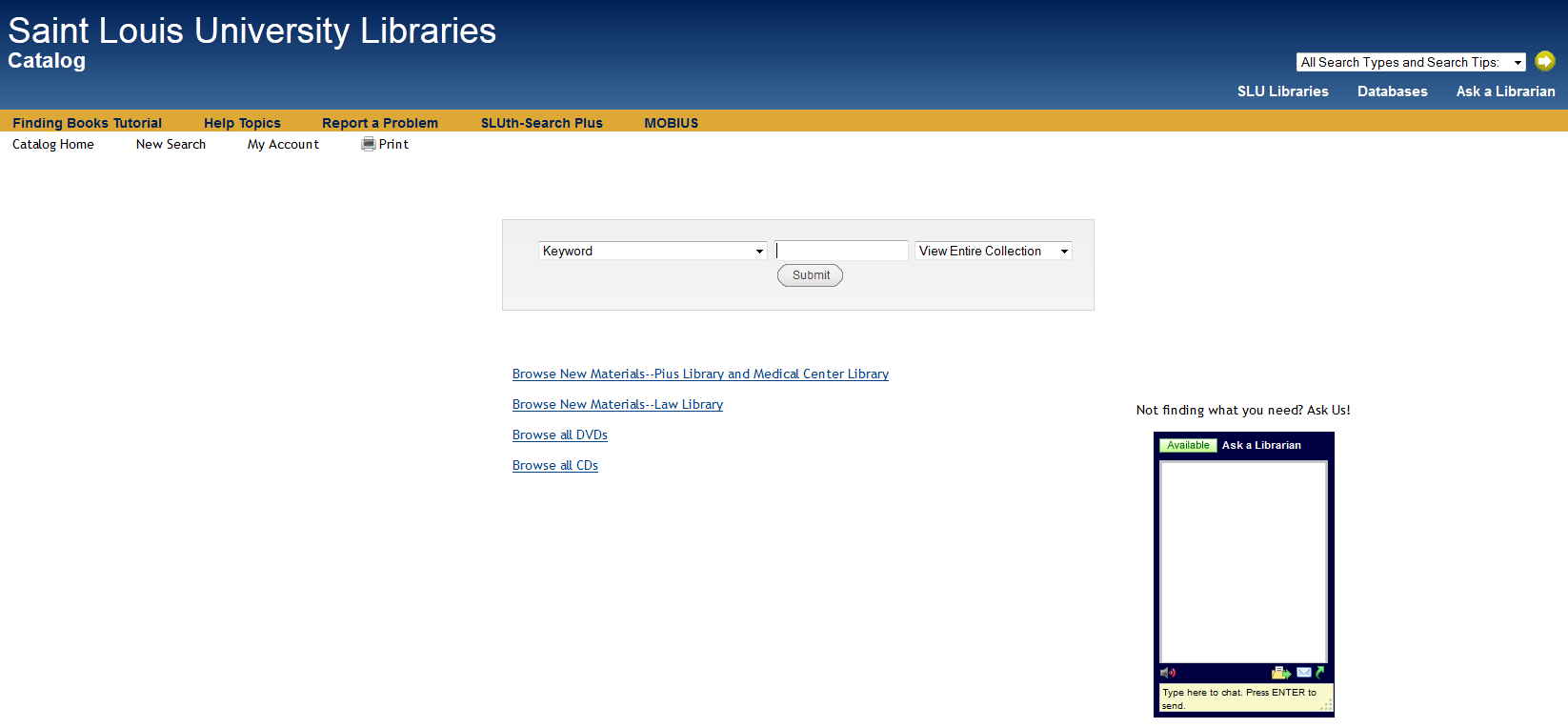 Library Catalog - Medical Center Library Orientation - Research