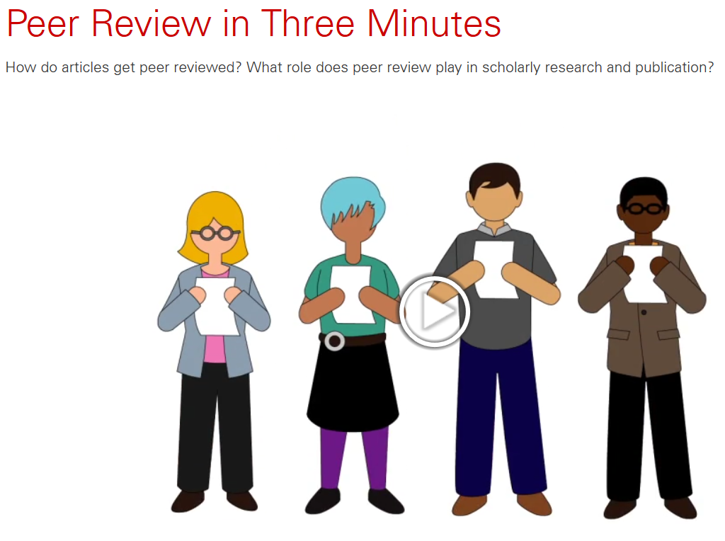 Peer review in three minutes