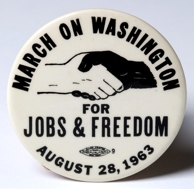 March on Washington for Jobs & Freedom button