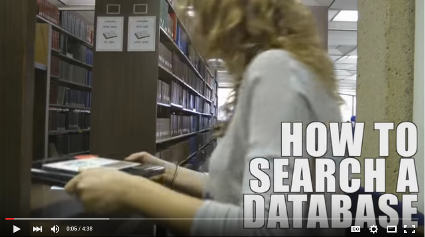 How to Search a Database