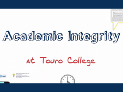 Academic Integrity at Touro College