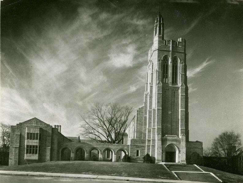 Black and white photograph of church Street Methodist Episcopal Church
