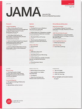 Journal of American Medical Association cover image