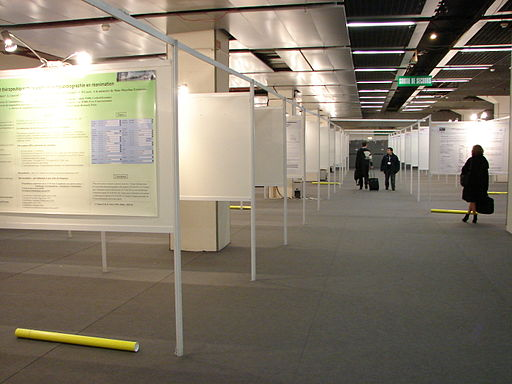 Poster presentations at a conference