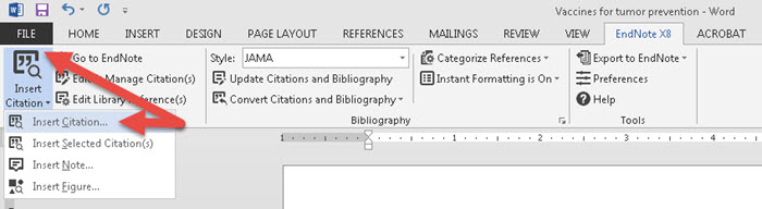 Insert & Delete References in Word - EndNote X8 - Research