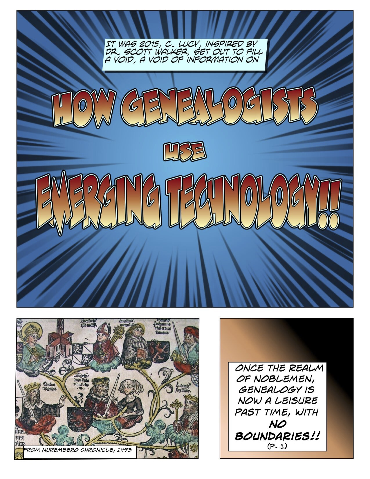 how genealogists use emerging technology comic