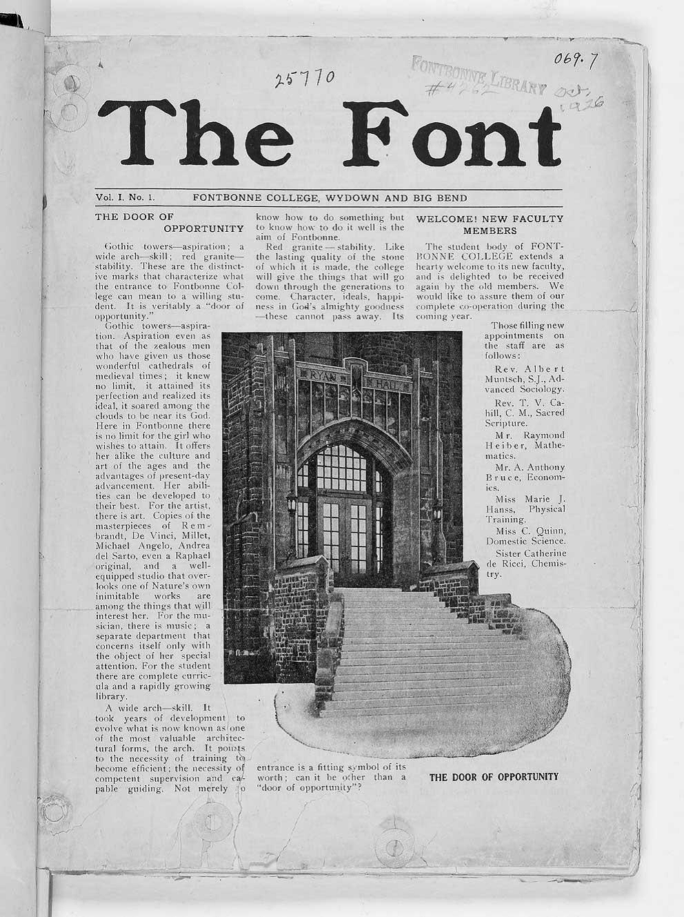 font page