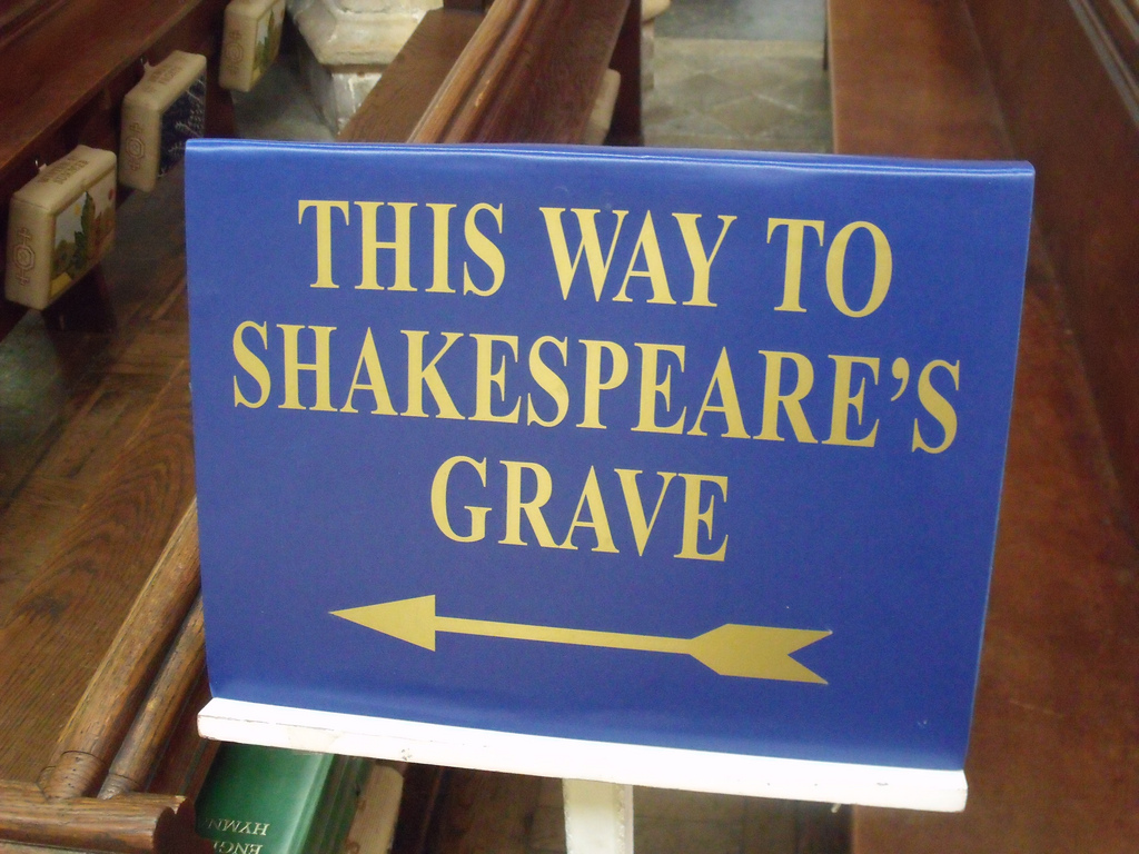 This way to Shakespeare's Grave