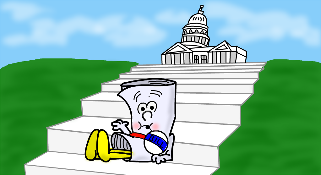 Bill sitting on Capitol Hill