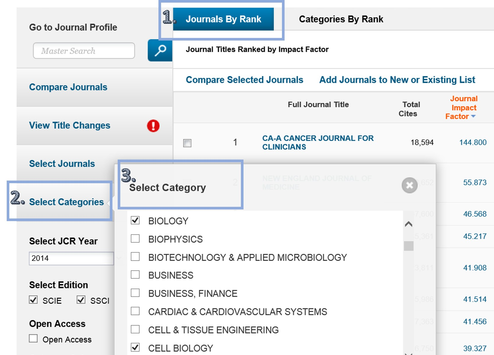 InCites Journal Citation Reports - Measuring Research Impact