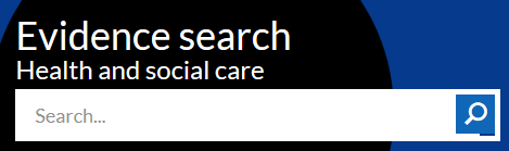 NHS evidence search bar