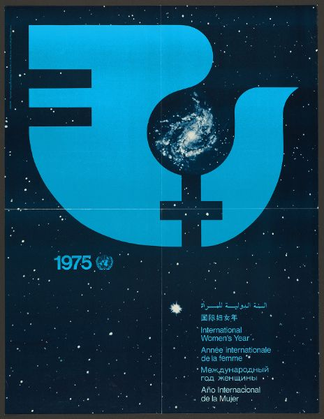 1975: International Women's Year, Dove with galaxy