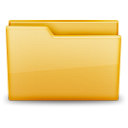 Icon resembling a yellow folder.