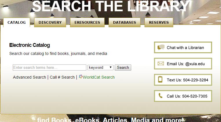 HOME - Xavier University of Louisiana Library - LibGuides at Xavier