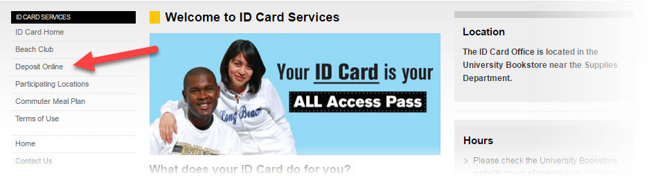 ID Card Services main page screenshot