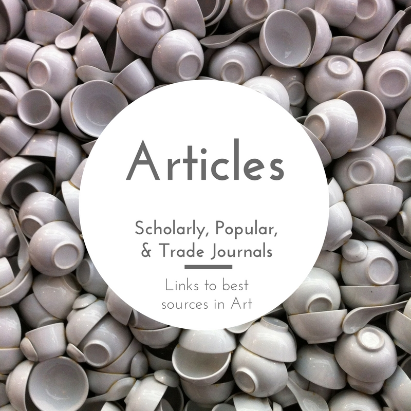 Articles - Scholarly, Popular and Trade Journals