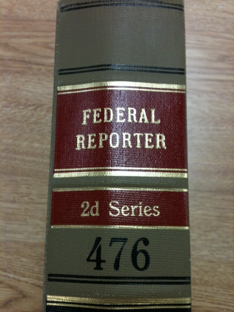 Photo of the spine of volume 476 of the Federal Reporter.