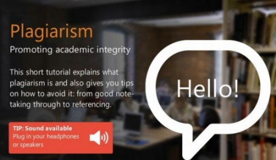 Plagiarism: promoting academic integrity online tutorial