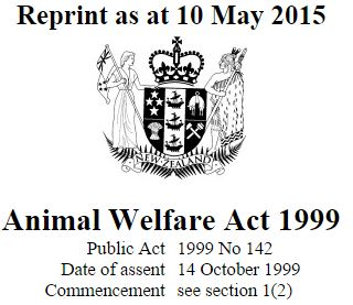 ANIMAL WELFARE ACT 1999 PDF DOWNLOAD
