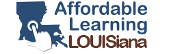 Affordable Learning Louisiana Logo. Links to Affordable Learning Louisiana