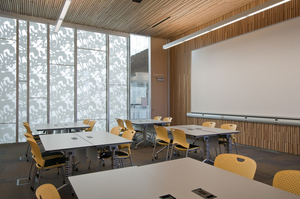 Inside of a classroom in the Classroom Building