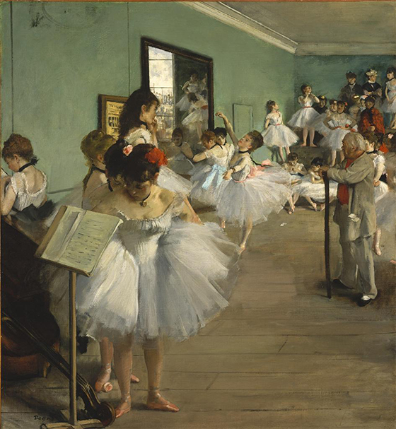 The Dance Class by Degas