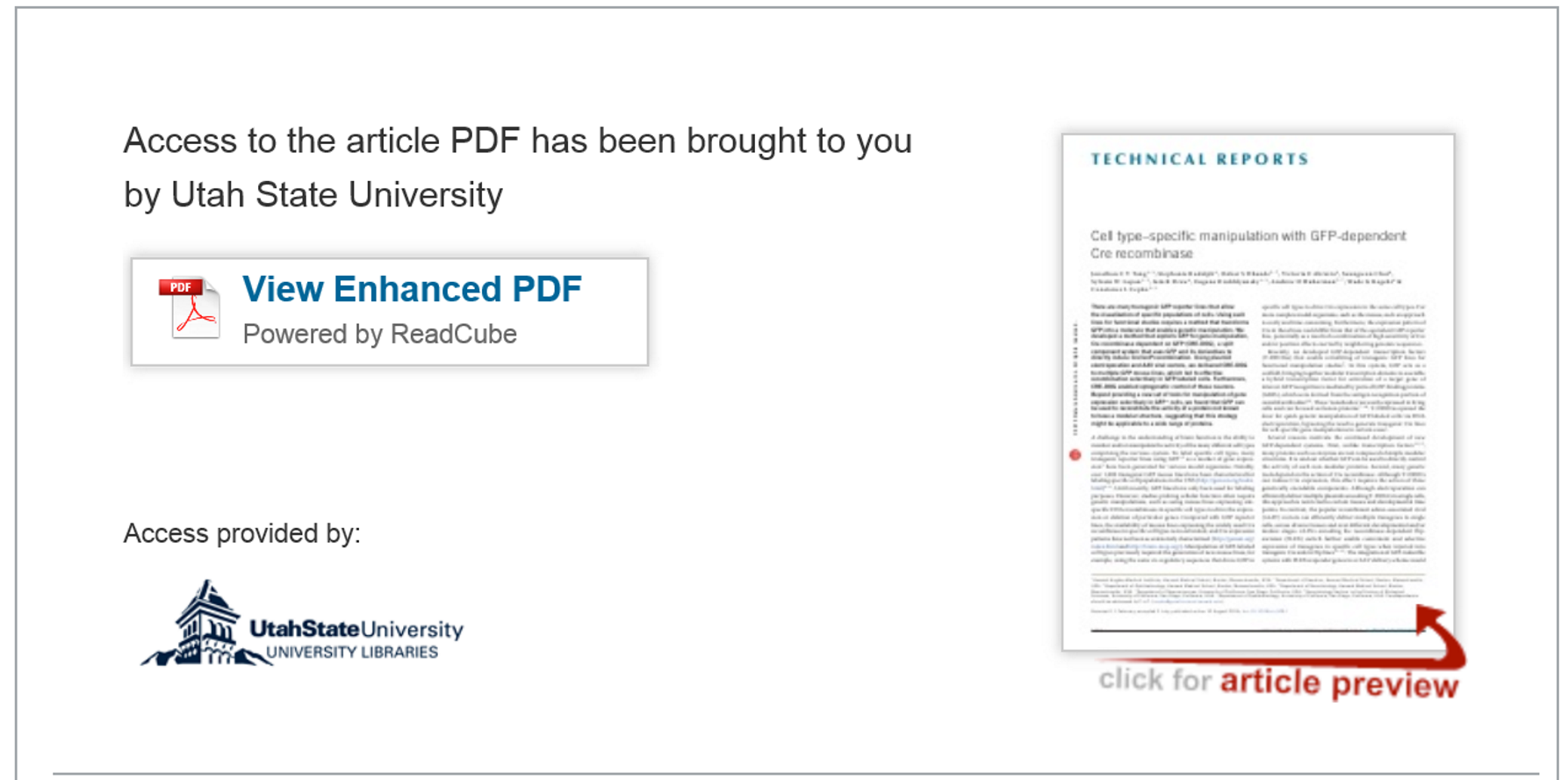 view enhanced pdf button