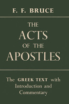 cover or Acts of the Apostles by F.F. Bruce