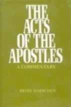 cover of The Acts of the Apostles: A Commentary