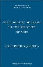 cover of Septuagintal Midrash in the Speeches of Acts