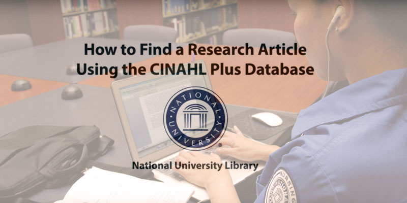 How to Find a Research Article