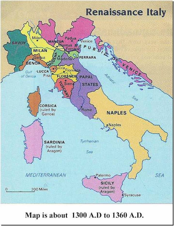 italy at the time of the renaissance