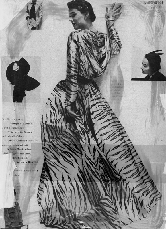 Image of Adrian dress from Vogue Sept. 1949.