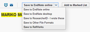 Look for Save to EndNote online in Web of Science