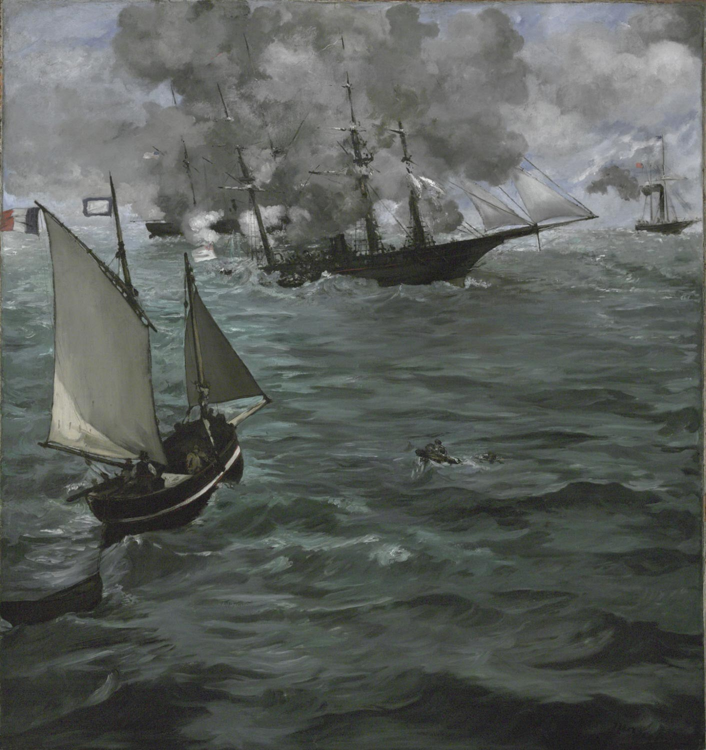 The Battle of the USS Kearsarge and the CSS Alabama, Edouard Manet